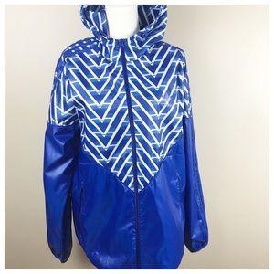 Adidas Blue Men's Windbreaker. Size L.